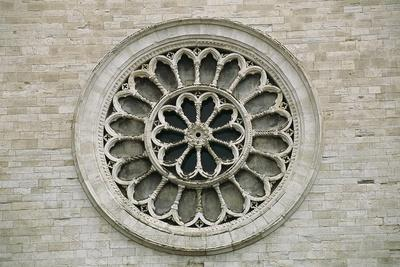 Rose Window on Facade of Cathedral of St Benedict