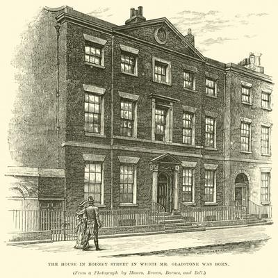 The House in Rodney Street in Which Mr Gladstone Was Born