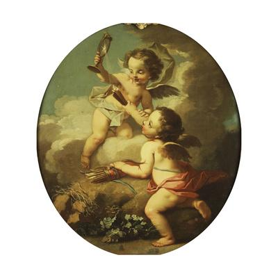 An Allegory of Love - Putti Disporting in a Landscape