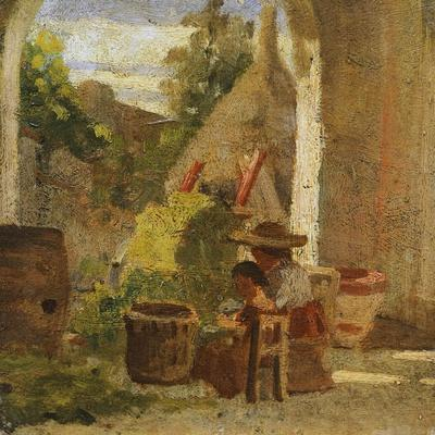 Rustic Loggia, Country Study Triptych, 1861
