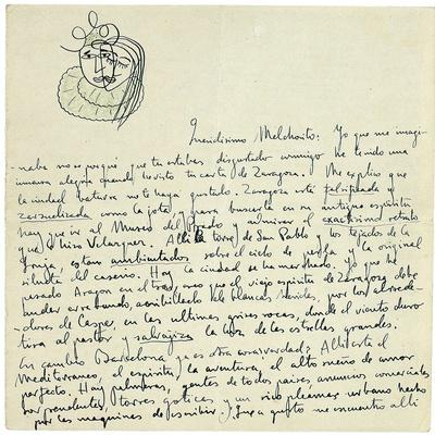 Autograph Letter to Melchor Fernandez Alamgro, Granada, Late January 1926
