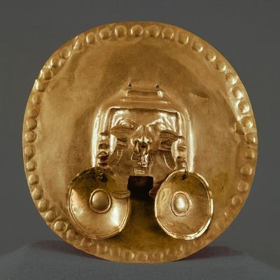 Pendant Breastplate in Gold Leaf, Artifact Originating from Calima