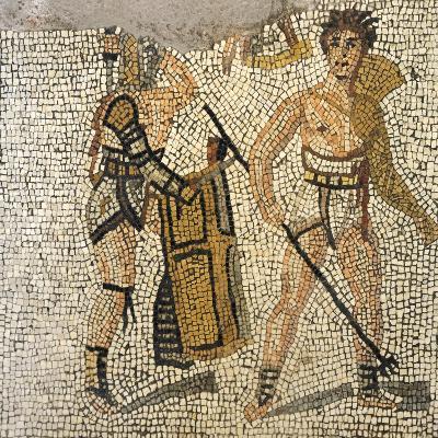 Mosaic Depicting Gladiatorial Scene, from Roman Villa of Negrar