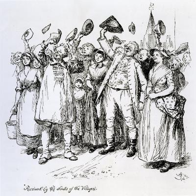 Scene from 'The Vicar of Wakefield' by Oliver Goldsmith, 1766