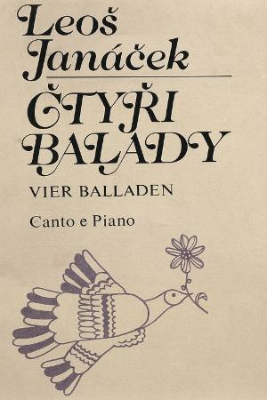 Title Page of Gtyri Balade, Five Popular Czech Ballads, Leos Janacek