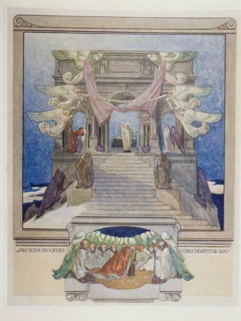 Illustration from Dante's 'Divine Comedy', Purgatory, 1921