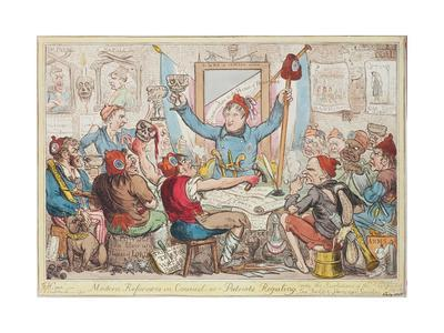 Modern Reformers in Council - or - Patriots Regaling, 1818