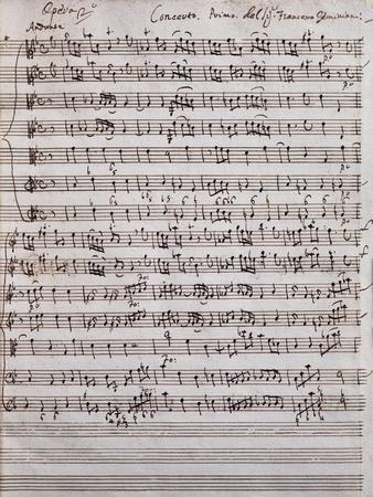 Sheet Music of Concerto Primo