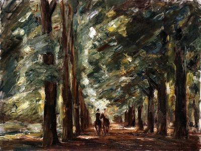 Avenue in Sakrow with Two Riders; Allee in Sakrow Mit Zwei Reitern, C.1923