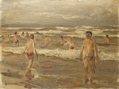 Boys Bathing in the Sea; Badende Knaben Im Meer, 1899