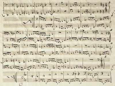 Autograph Sheet Music of Course of Counterpoint