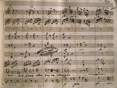 Autograph Music Score of La Daunia Felice