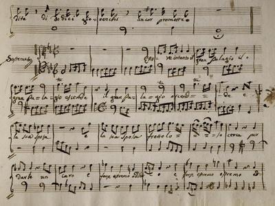 Sheet Music of Andromaca, 1730