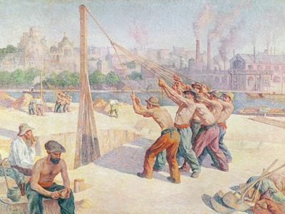 Workers on the Quai De La Seine at Billancourt, 1902-3