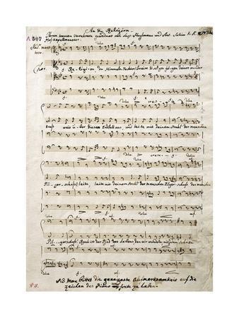 Autograph Music Score of Oratorium