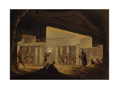 Inside Catacombs of Alexandria, Engraving