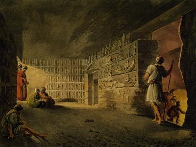 Underground Chamber of Pyramid of Giza, Engraving