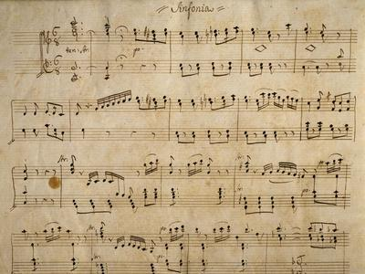 Handwritten Music Score of Elisa, 1830