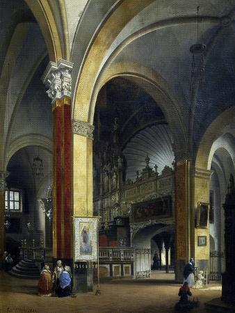 Interior of Sant'Eustorgio before Restoration in 1841