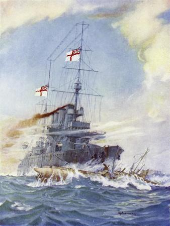 Hms Birmingham Ramming the German Submarine U-15, 9 August 1914