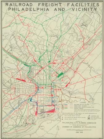 Railroad Freight Facilities: Philadelphia and Vicinity, 1949