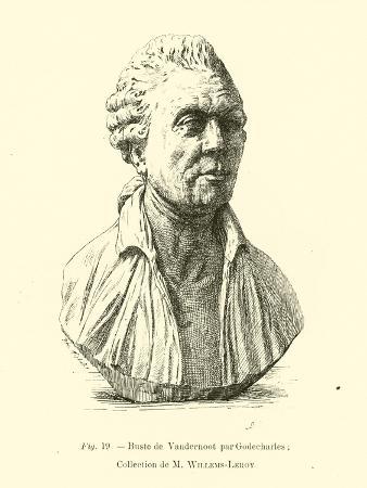 Bust of Henri Van Der Noot, Belgian Revolutionary