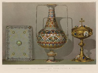 Enamelled Vase, Damascened Book-Cover and Chalice by Rudolphi of Paris