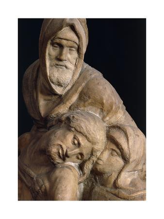Jesus, Mary and Nicodemus, Detail from Pieta Bandini