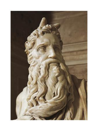 Moses, Detail from the Tomb of Julius II, Circa 1515