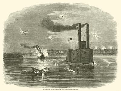 The Lancaster and Switzerland Running the Vicksburg Batteries, March 1863