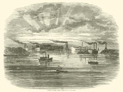 Admiral Porter's Fleet at the Mouth of the Yazoo, December 1862