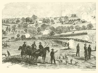 Union Position Near the Centre, Battle of Gettysburg, 2 July, July 1863