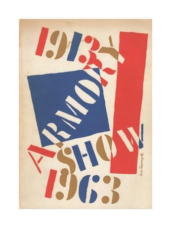 Poster for the 1913 Armory Show Anniversary Exhibition, 1963
