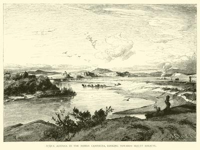 Acqua Acetosa in the Roman Campagna, Looking Towards Mount Soracte