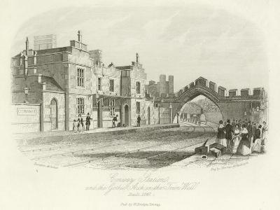 Conwy Station and the Gothic Arch in the Town Wall, Built 1847
