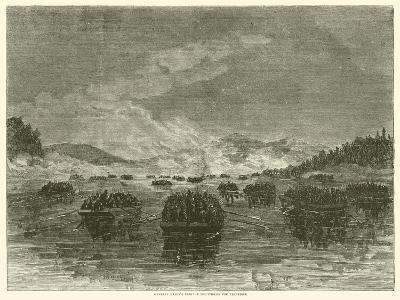 General Hazen's Brigade Descending the Tennessee, October 1863