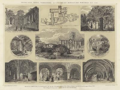 Fountains Abbey, Yorkshire, a Cistercian Monastery Founded Ad 1132
