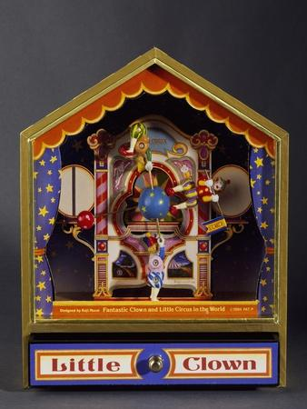 Music Box with Three Clowns Moving to Bolero