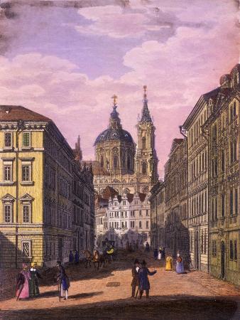 Church of Saint Nicholas in the Little Quarter, Prague, 1847