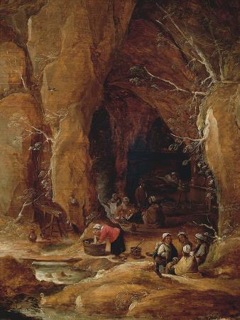 Vagabonds and Washerwomen in Cave