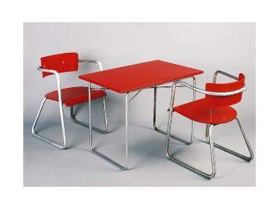 Kindergarten Table and Chairs, 1930-1940