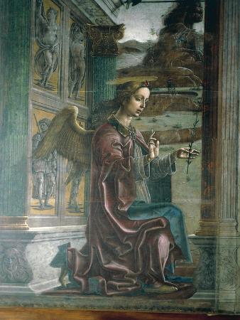 Annunciation, Organ-Shutter Wood in Cathedral of Ferrara