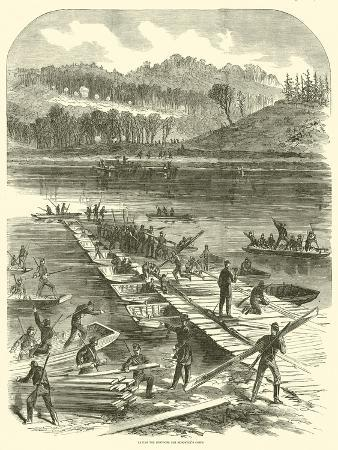 Laying the Pontoons for Sedgwick's Corps, April 1863