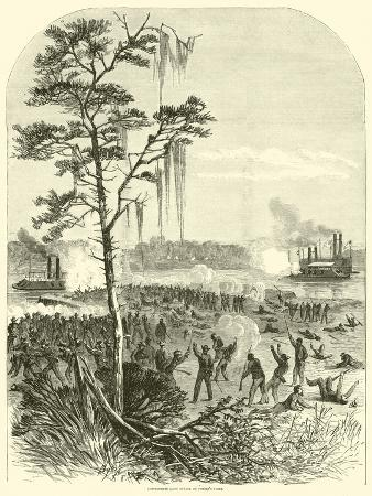 Confederate Land Attack on Porter's Fleet, April 1864
