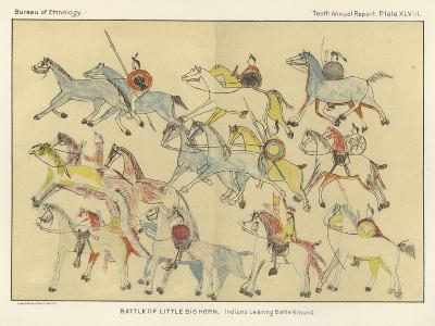 Battle of Little Big Horn - Indians Leaving Battle Ground
