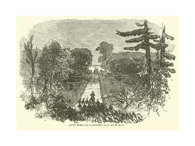 Cotton Bridge Built by Mcpherson across the Big Black, May 1863