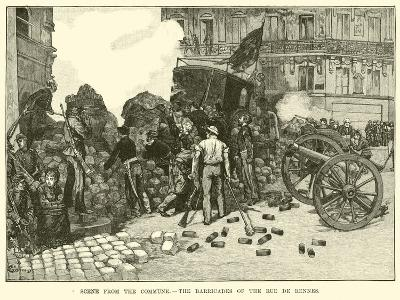 Scene from the Commune, the Barricades of the Rue De Rennes