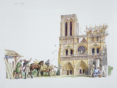 Reconstruction of the Construction of the Notre Dame, Paris
