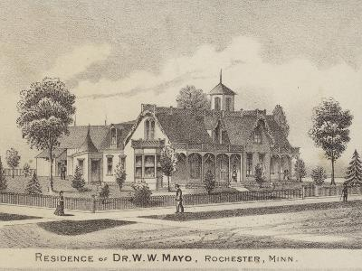Residence of Dr W W Mayo, Rochester, Minnesota, Usa