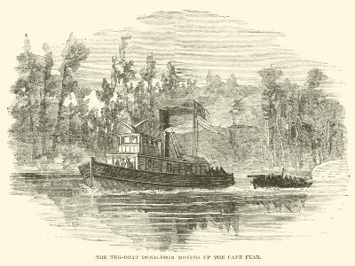 The Tug-Boat Donaldson Moving Up the Cape Fear, March 1865